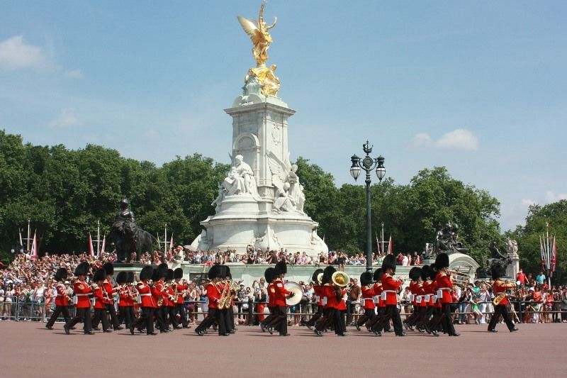 Queen Victoria Memorial y Ceremonia del Cambio de Guardia