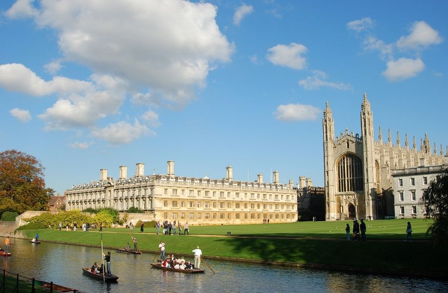 Vista del río, el Clare College y la King's Chapel, Cambridge