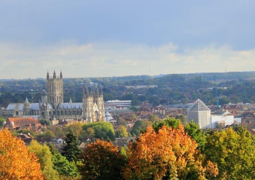 Vista de la Catedral de Canterbury