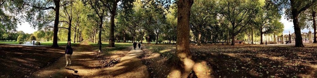 Green Park,  panorámica