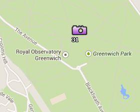 Situación de Greenwich Park en el Mapa de Londres