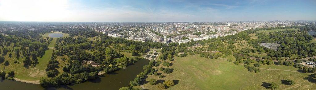 Vista aérea de Hyde Park