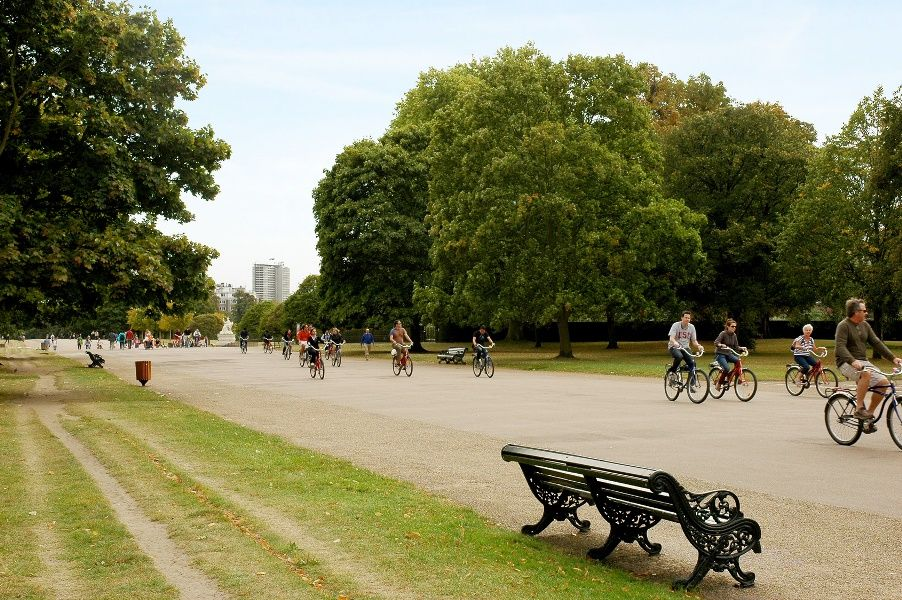 Ciclistas en Hyde Park