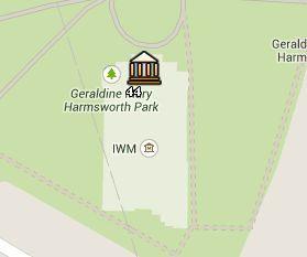 Situación del Imperial War Museum en el Mapa de Londres