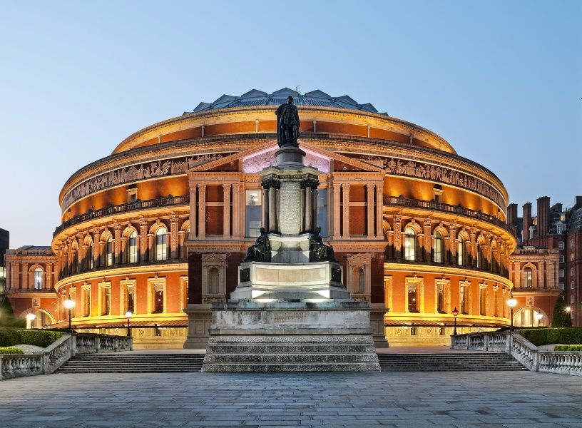 Royal Albert Hall de noche