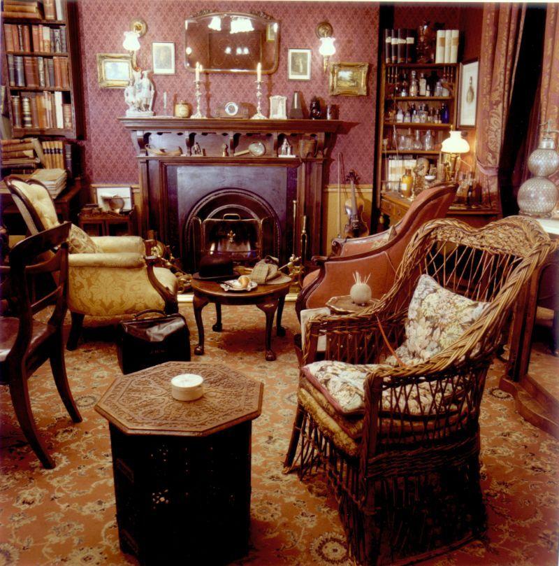 Estudio de Sherlock Holmes © The Sherlock Holmes Museum - 221b Baker Street, Londres - www-sherlock-holmes-co-uk
