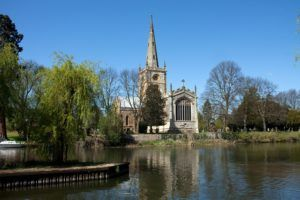 Holy Trinity Church y el río Avon, Stratford upon Avon