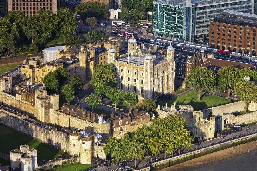 Vista aérea de la Torre de Londres