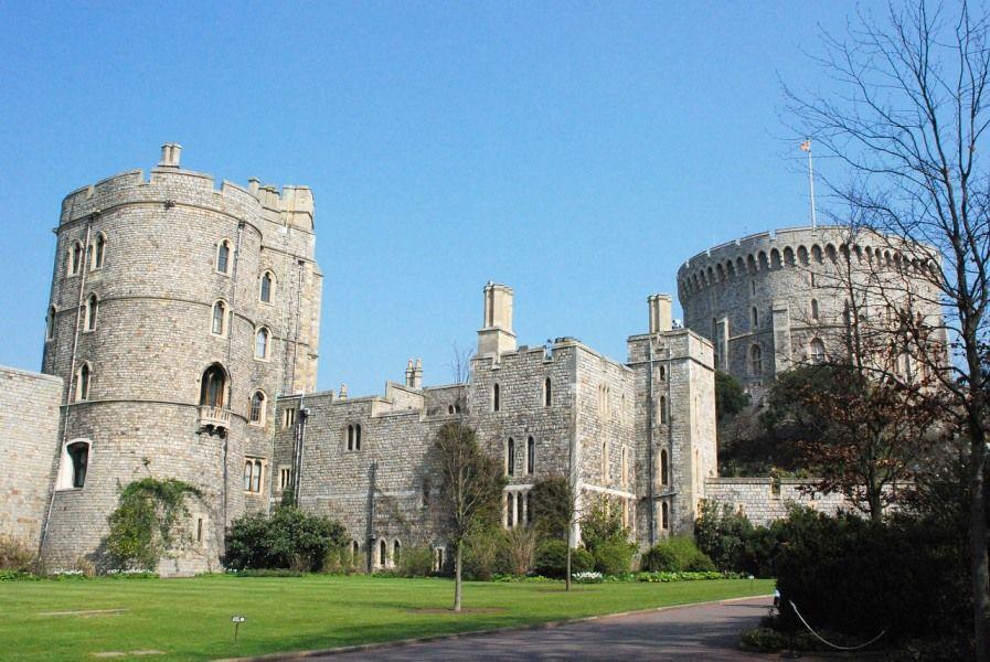 Round Tower con la bandera, Castillo de Windsor