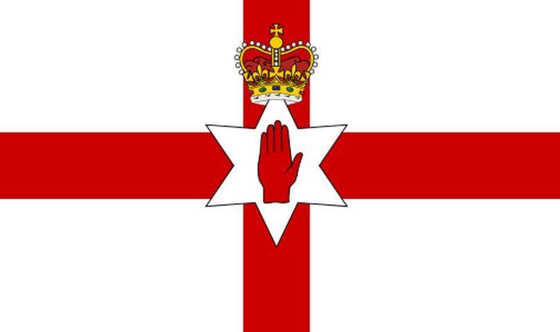Bandera de Irlanda del Norte. actualmente de uso no oficial