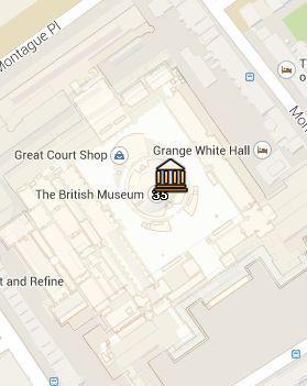 Situación del British Museum en el Mapa de Londres