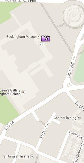 Situación del Palacio de Buckingham en el Mapa de Londres