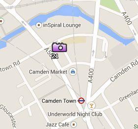 Situación de Camden Market en el Mapa de Londres