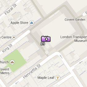 Situación de Covent Garden Piazza en el Mapa de Londres