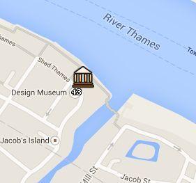 Situación del Design Museum en el Mapa de Londres