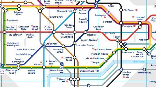 Mapa de la red de Metro de Londres