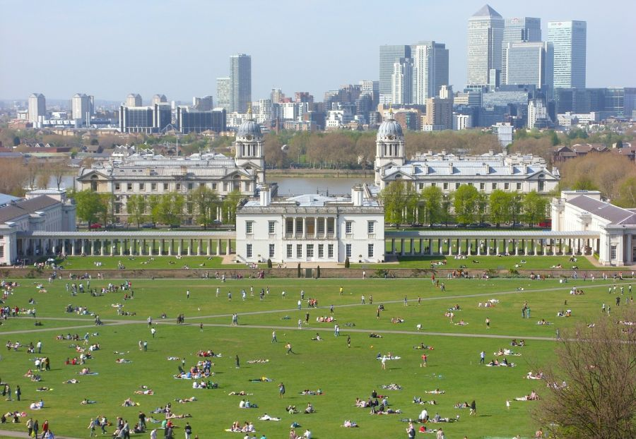 Old Royal Naval College y Queen's House desde Greenwich Park
