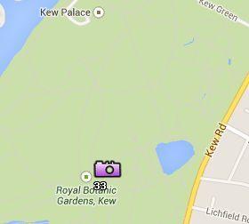 Situación de los Jardines Kew en el Mapa de Londres