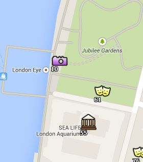 Situación de London Eye en el Mapa de Londres