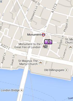 Situación de Monument en el Mapa de Londres