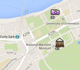 Situación del Old Royal Naval College en el Mapa de Londres