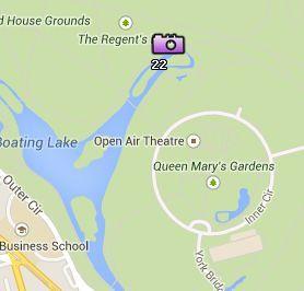 Situación del Regent's Park en el Mapa de Londres
