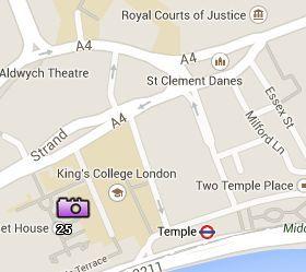 Situación de la Somerset House en el Mapa de Londres