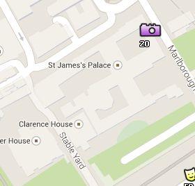 Situación del Palacio de St James en el Mapa de Londres