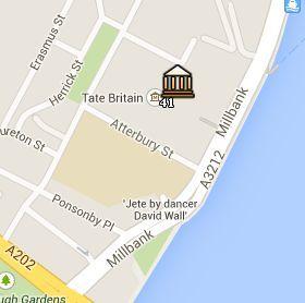 Situación de la Tate Britain en el Mapa de Londres