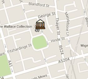 Situación de la Wallace Collection en el Mapa de Londres